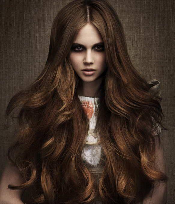Стрижка на очень длинные волосы каскад